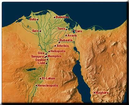 Torah Mosheh Barasheet בראשית Genesis Chapter - Map of egypt goshen